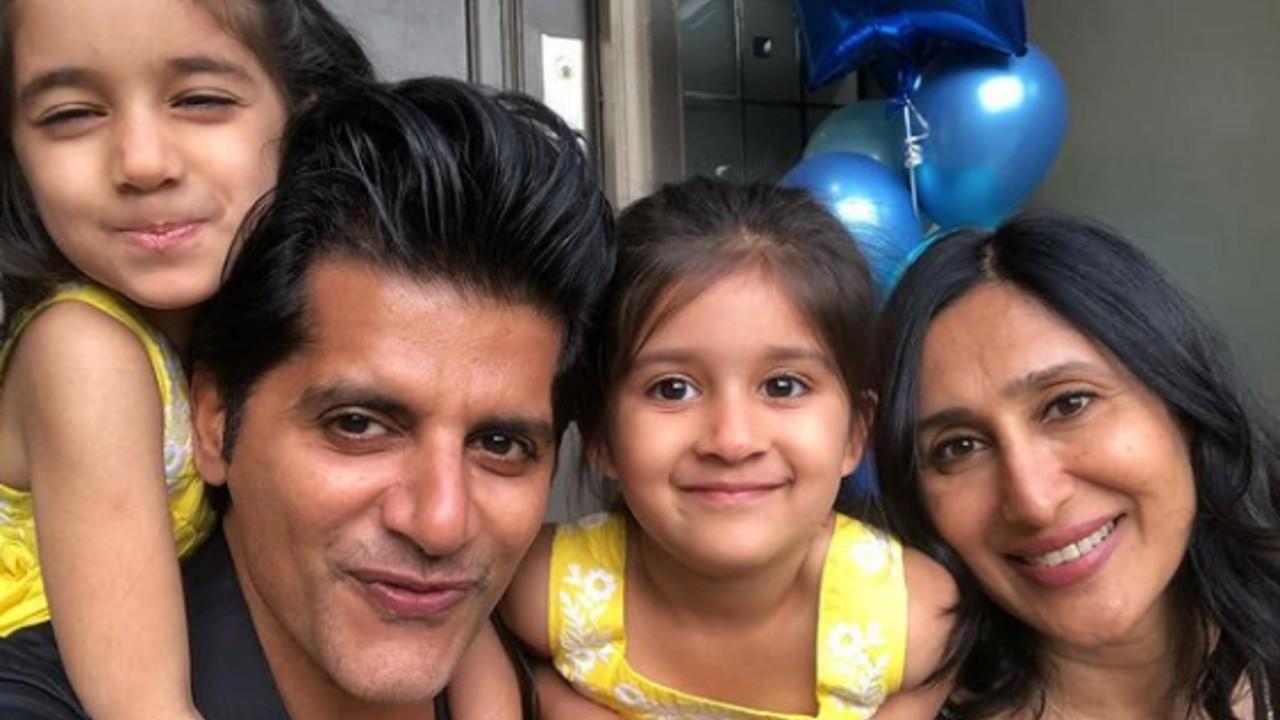 Karanvir Bohra gets scolded by her 4-year-old daughter